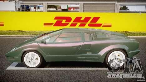 Lamborghini Countach v1.1 for GTA 4 left view