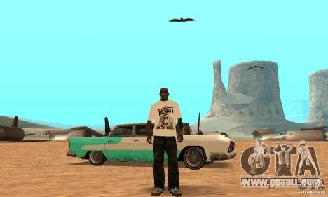 WWE CM Punk T-shirt for GTA San Andreas third screenshot
