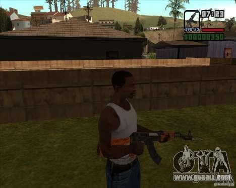 AK-47 with bayonet for GTA San Andreas third screenshot