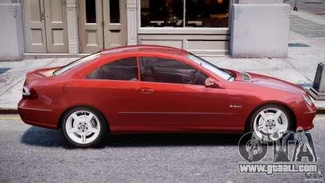 Mercedes-Benz CLK 63 AMG 2005 for GTA 4 upper view