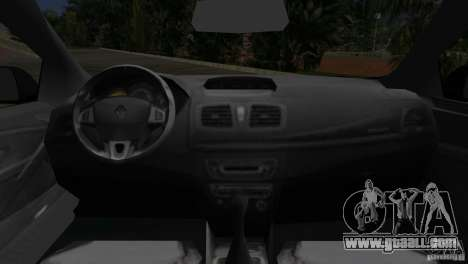 Renault Megane 3 Sport for GTA Vice City back view