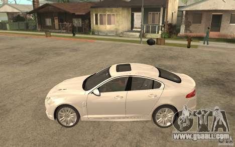 Jaguar XFR for GTA San Andreas left view