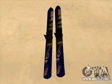 Ski-skiing for GTA San Andreas back left view
