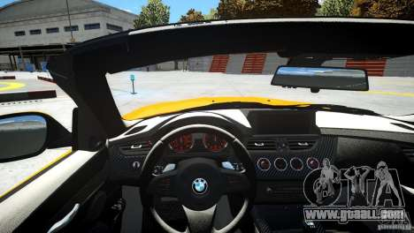 BMW Z4 sDrive 28is for GTA 4 inner view