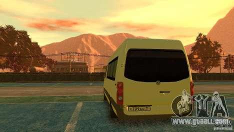 Volkswagen Crafter for GTA 4 back left view