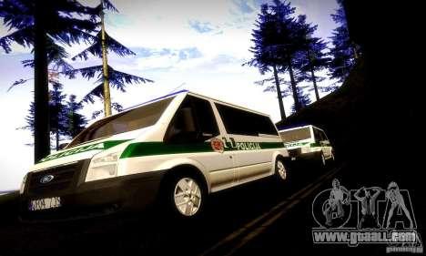 Ford Transit Policija for GTA San Andreas back view
