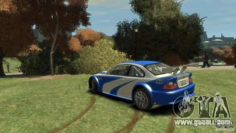 BMW M3 GTR NFS MOST WANTED for GTA 4 back left view