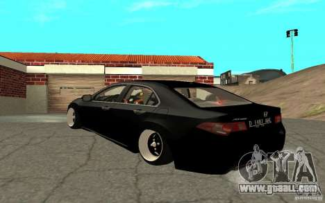Honda Accord Angry Birds for GTA San Andreas back left view