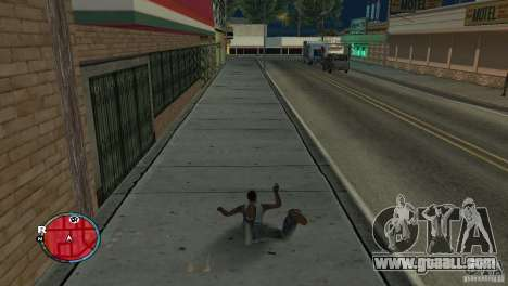 GTA IV HUD for a wide screen (16: 9) for GTA San Andreas second screenshot