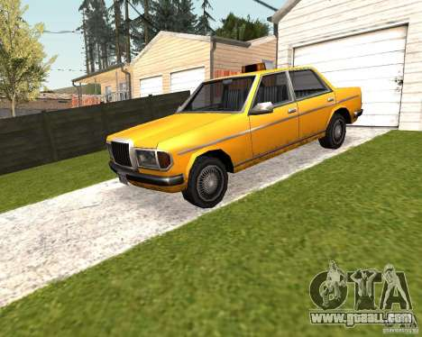 Admiral Taxi for GTA San Andreas back left view