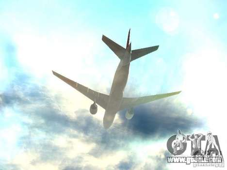 Boeing 777-200 Japan Airlines for GTA San Andreas bottom view