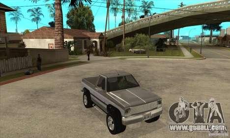 Ford Ranger for GTA San Andreas inner view