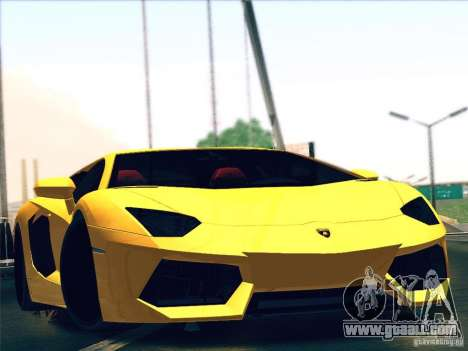 Lamborghini Aventador LP700-4 2011 V1.0 for GTA San Andreas inner view