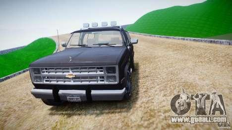Chevrolet Blazer K5 Stock for GTA 4 side view
