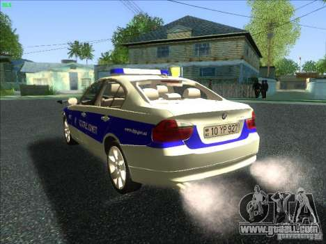 BMW 330i YPX for GTA San Andreas back left view