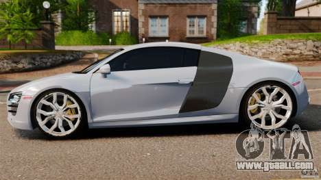 Audi R8 5.2 Stock 2012 Final for GTA 4 left view
