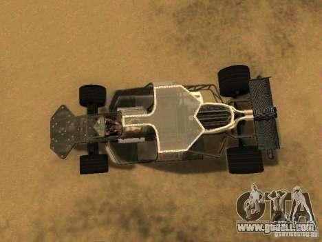 Fast & Furious 6 Flipper Car for GTA San Andreas back view