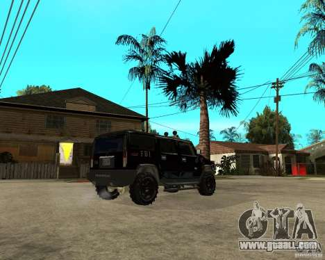 FBI Hummer H2 for GTA San Andreas back view