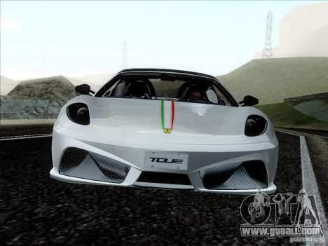 Ferrari F430 Scuderia Spider 16M for GTA San Andreas side view