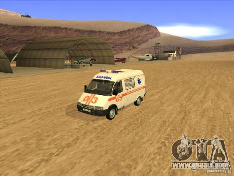 GAS 22172 ambulance for GTA San Andreas back left view
