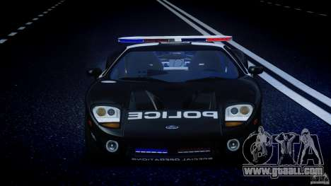 Ford GT1000 Hennessey Police 2006 [EPM][ELS] for GTA 4 interior