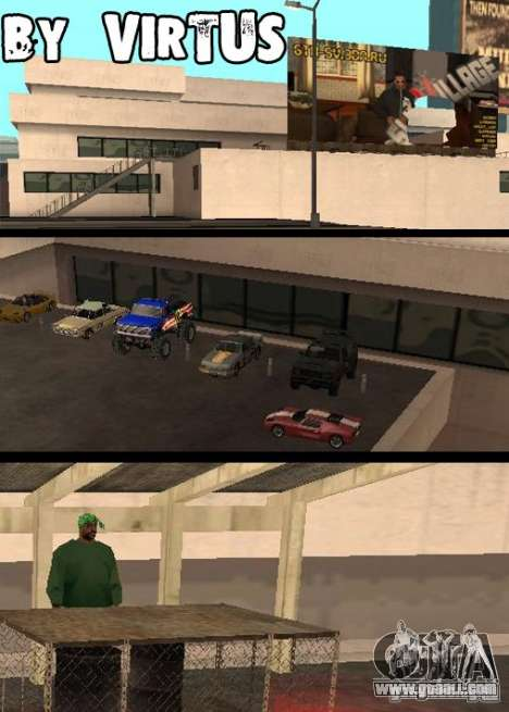 Cars shop in San-Fierro beta for GTA San Andreas