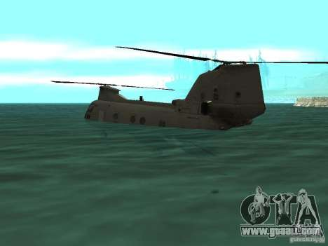 Helicopter Leviathan for GTA San Andreas back view
