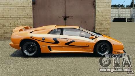 Lamborghini Diablo SV 1997 v4.0 [EPM] for GTA 4 left view