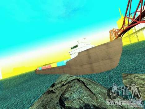 Drivable Cargoship for GTA San Andreas second screenshot