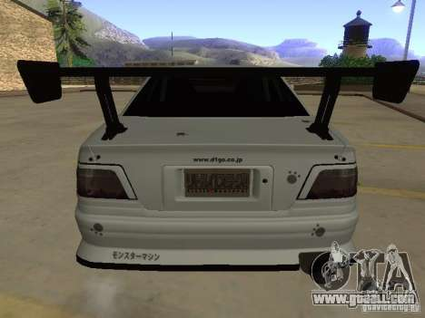 Toyota Chaser JZX100 Tuning by TCW for GTA San Andreas bottom view