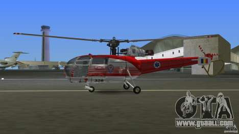 IAR 316B Alouette III SMURD for GTA Vice City back left view