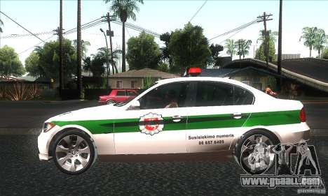 BMW 330 E90 Policija for GTA San Andreas left view