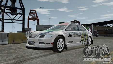 Mitsubishi Lancer Evolution IX RallyCross for GTA 4 inner view