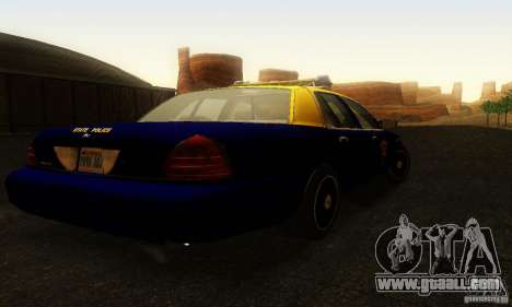 Ford Crown Victoria West Virginia Police for GTA San Andreas left view