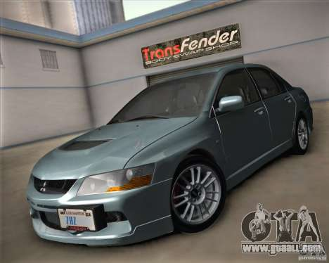 Mitsubishi Lancer Evolution IX Tunable for GTA San Andreas back view