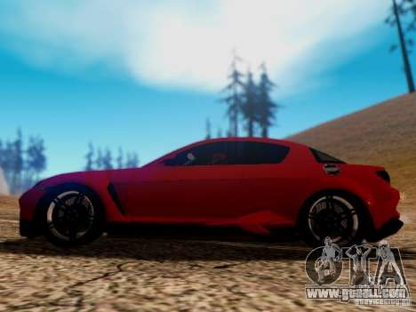 Mazda RX8 Reventon for GTA San Andreas bottom view