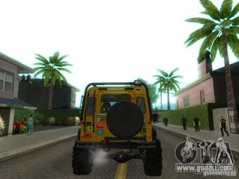 Land Rover Defender Off-Road for GTA San Andreas right view