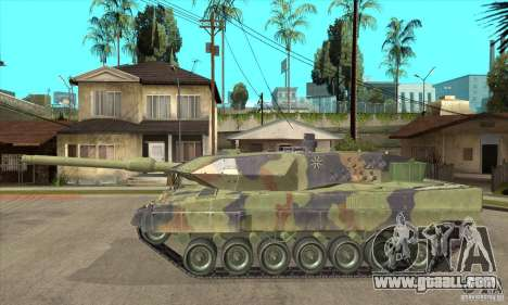 Leopard 2 A6 for GTA San Andreas left view