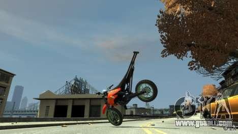 Stunt Supermotard Sanchez for GTA 4 inner view