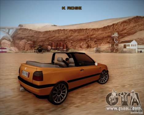 Volkswagen Golf MkIII Cabrio Custom 1995 for GTA San Andreas right view