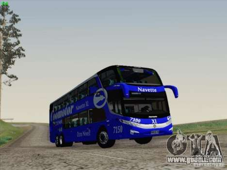 Marcopolo Paradiso 1800 DD Navette XL Coomotor for GTA San Andreas right view