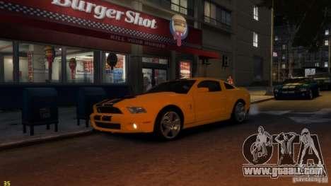 Ford Shelby Mustang GT500 2011 v2.0 for GTA 4 inner view