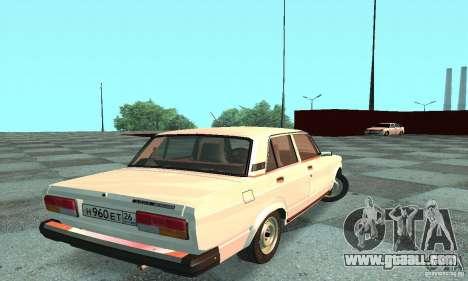 Vaz 2107 v. 3 for GTA San Andreas back left view
