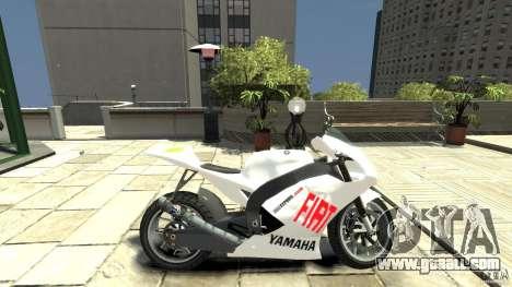 Yamaha YZR M1 MotoGP 2009 for GTA 4 left view