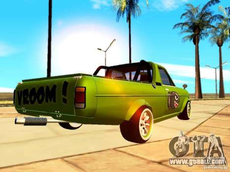 Nissan Sunny K Truck FISH ART for GTA San Andreas back left view