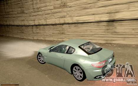 Maserati Gran Turismo 2008 for GTA San Andreas upper view