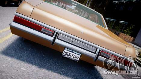 Mercury Monterey 2DR 1972 for GTA 4 upper view