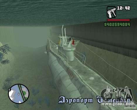 U99 German Submarine for GTA San Andreas second screenshot