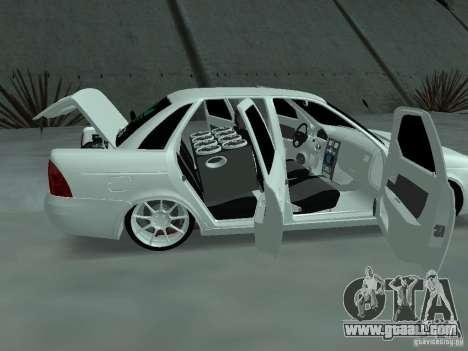 Lada Priora Adidas for GTA San Andreas inner view