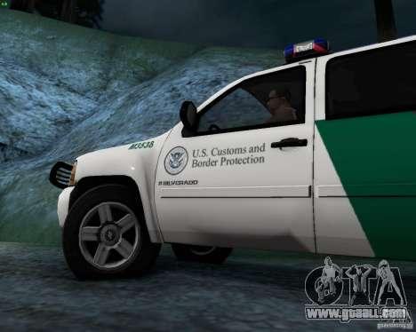 Chevrolet Silverado Police for GTA San Andreas inner view